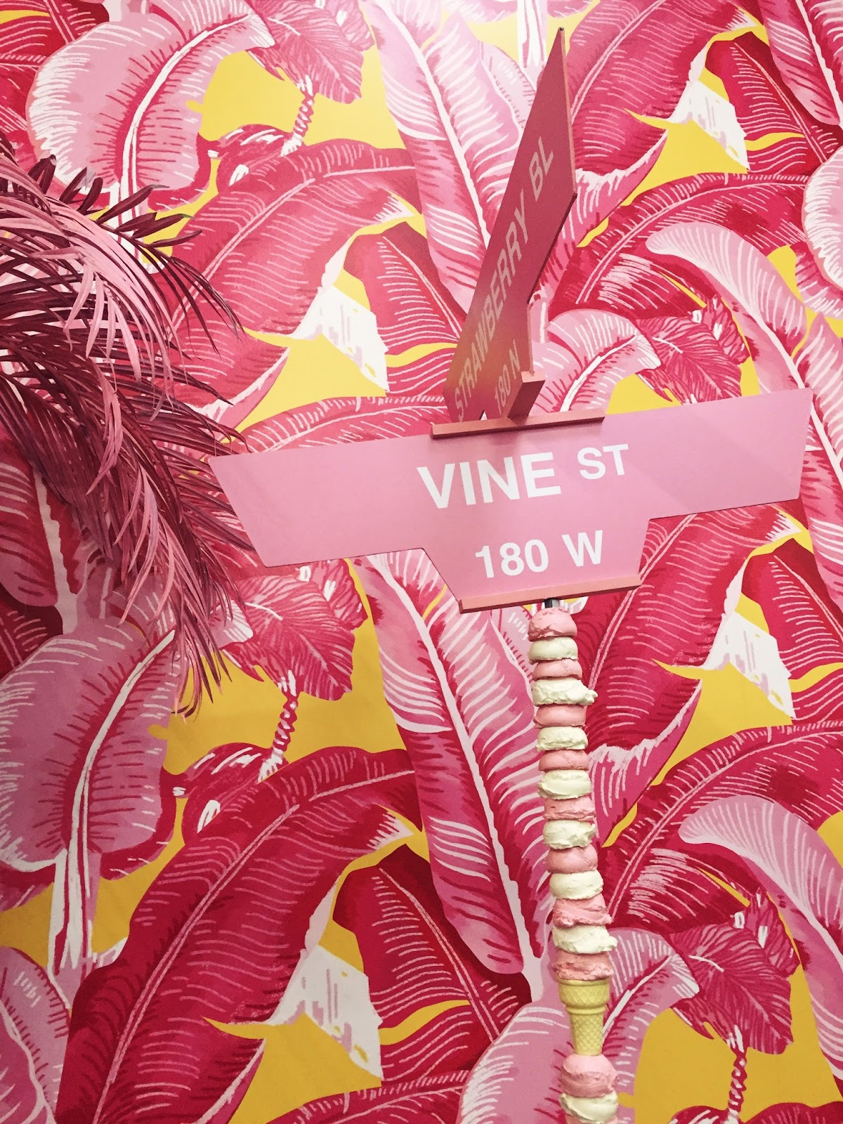 Adrienne Nguyen_INvictus_Museum  of Ice Cream_Palm Trees and Street Signs_Palm Tree Tropical Wallpaper_Interior Designs_Lifestyle Blogger