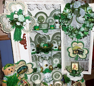 St. Patrick's Day China display