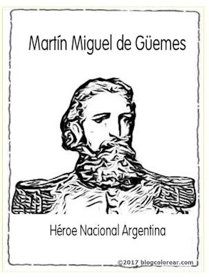 colorear Martín Miguel de Güemes