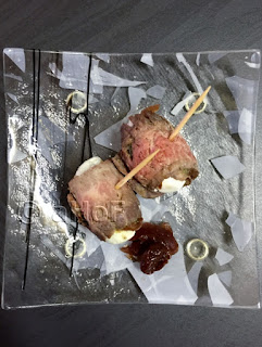 Flank Steak Rolls with Romano & Cherry Onion Relish