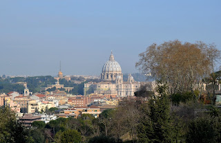 The view across Rome from the Gianicolo hill
