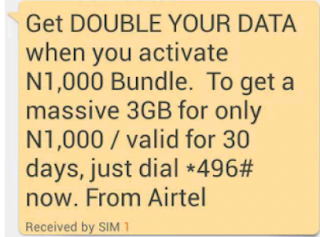 Airtel double data promo