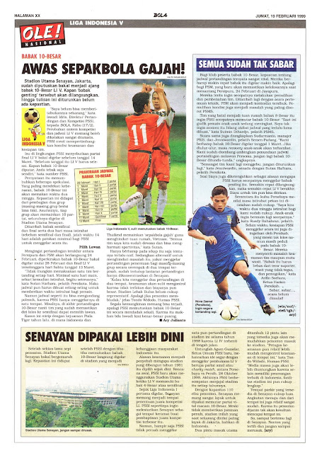 LIGA INDONESIA V: BABAK 10-BESAR AWAS SEPAKBOLA GAJAH