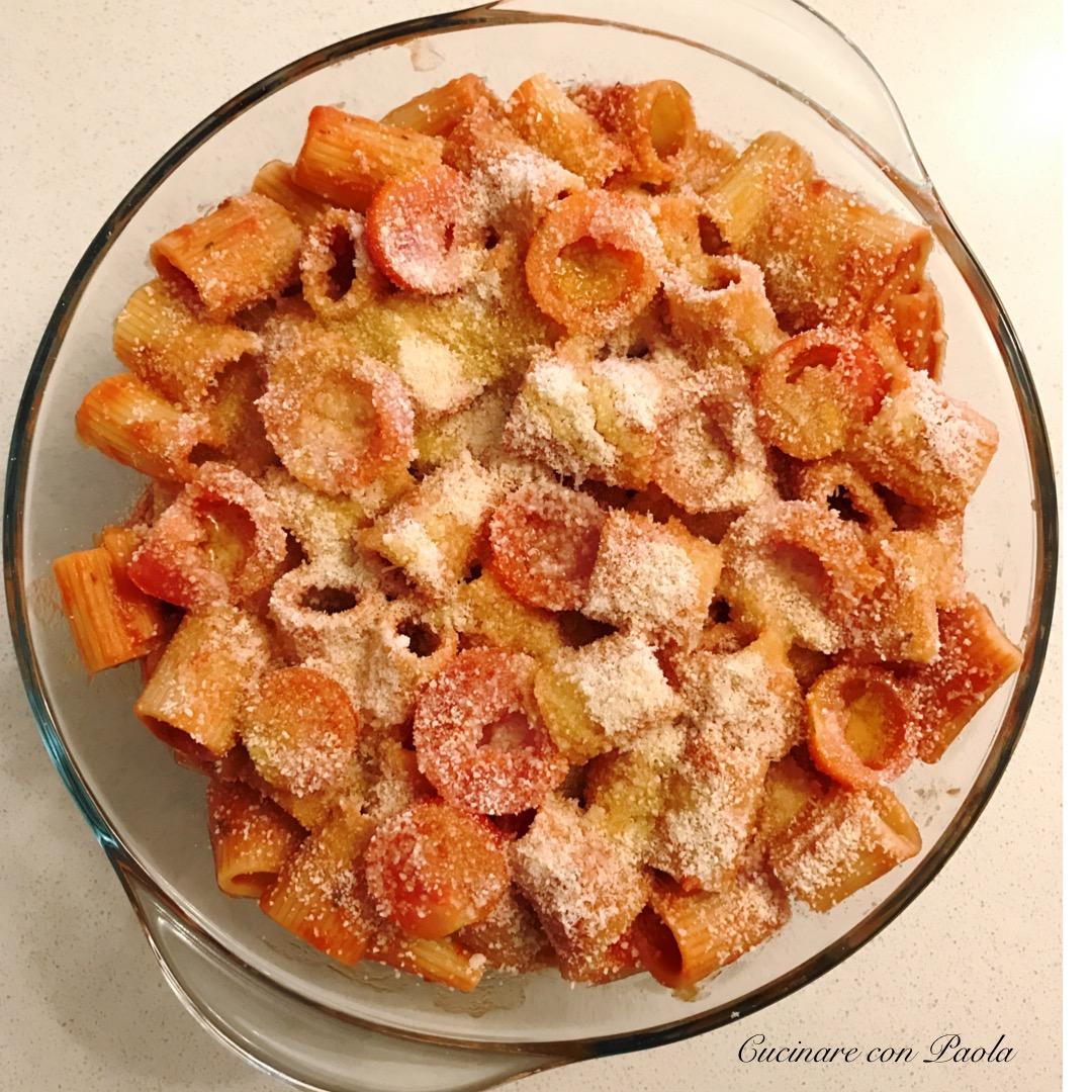 Pasta al forno con mozzarella e pomodorini – Cucinare con Paola