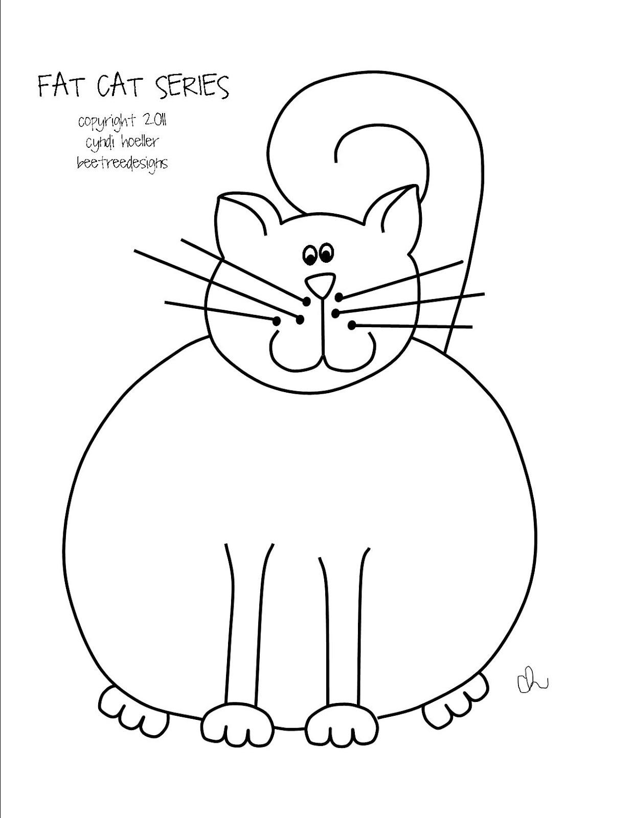 Stitch, Stitch, Stitch: FREEBIE-FAT CAT