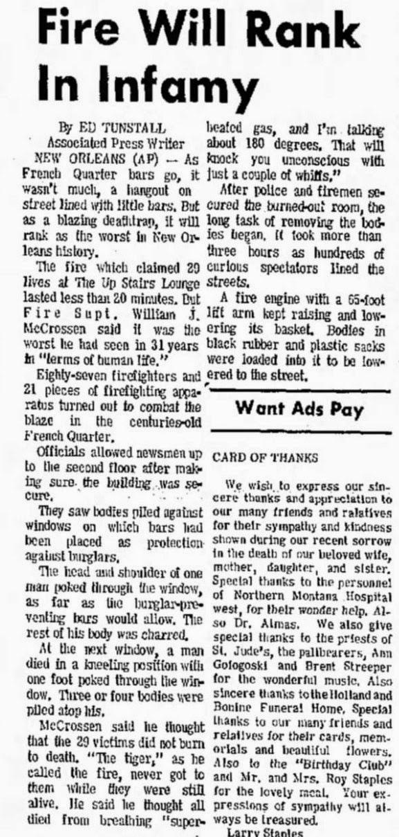 StevenWarRan Research: June 26, 1973, UPI - AP
