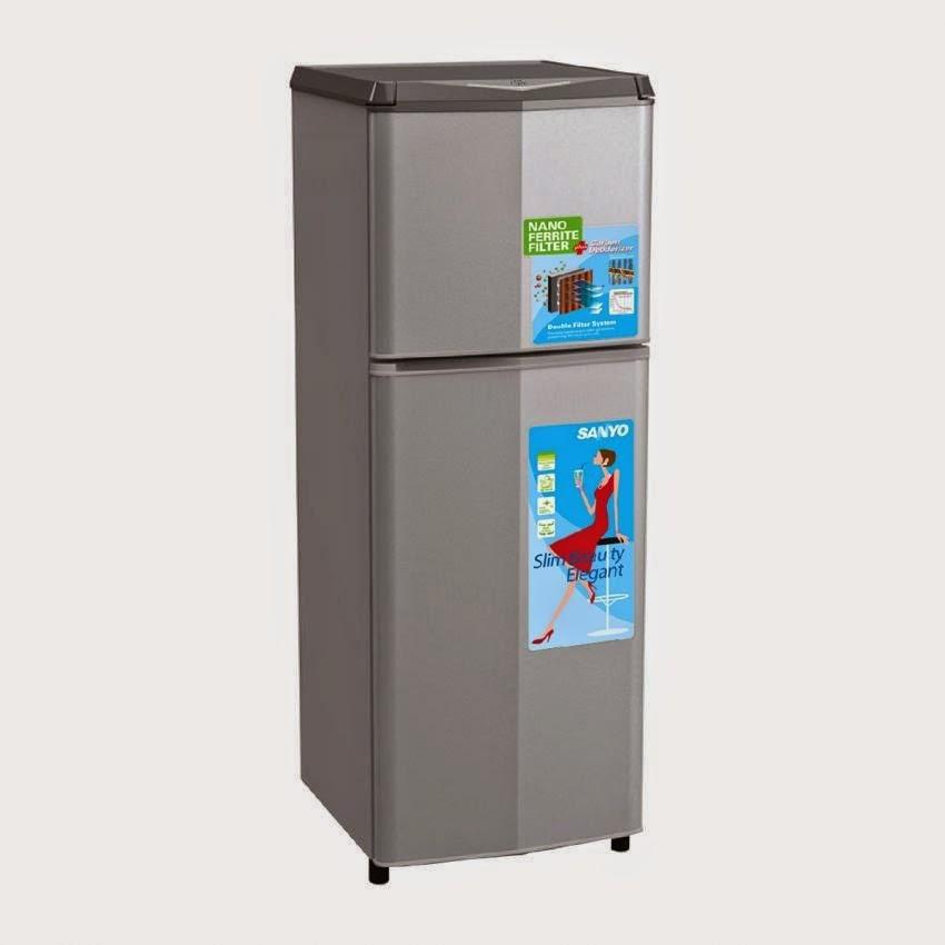 Sanyo Refrigerator - Kulkas 2 Pintu SRD235NSB - Silver