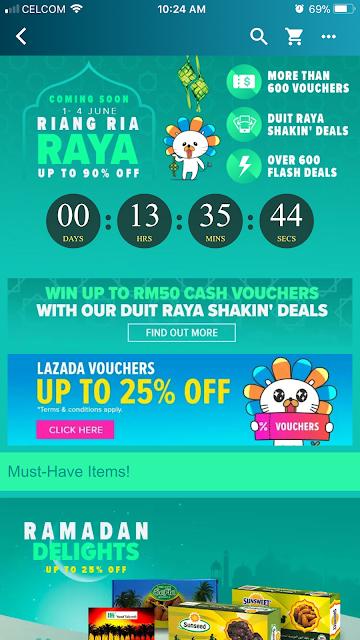 Lazada Riang Ria Raya Shakin' Deals