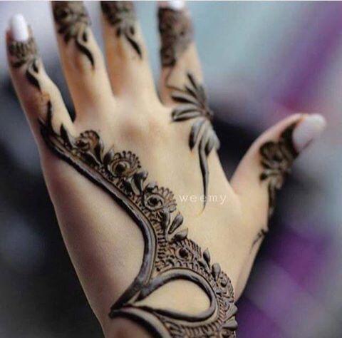 Fancy Khaleeji Mehndi Designs For Hands Images Photos
