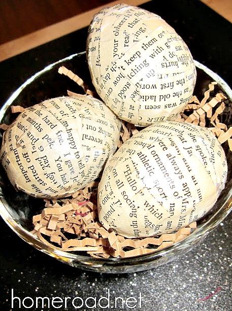 DIY newsprint easter eggs