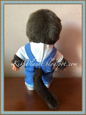 kiki monchhichi vêtement salopette poupées fait main handmade couture sewing