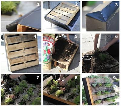 como hacer un jardin vertical con palets de madera tutorial