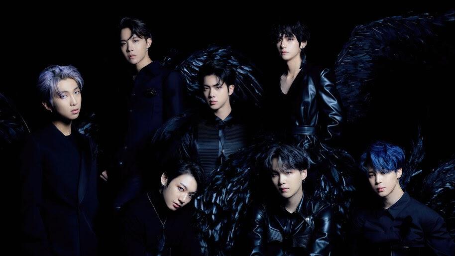 BTS, Map of the Soul 7, All Members, Black Wings, 4K, #6.661