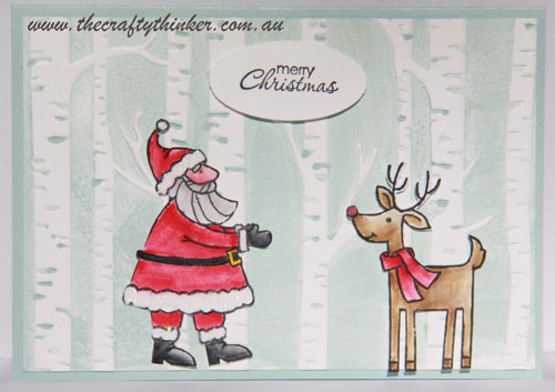 SU, Christmas Card, Inking embossing folders