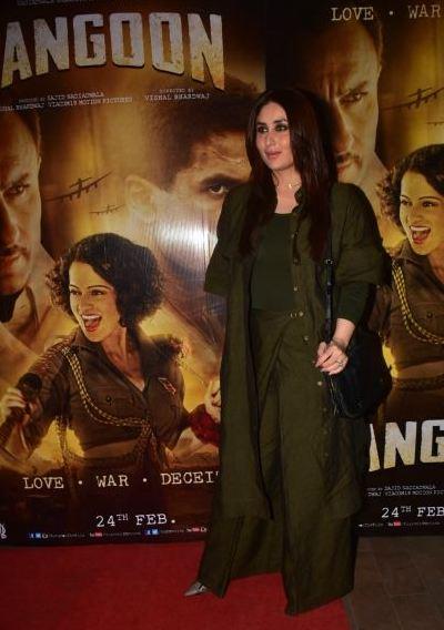 Kareena Kapoor, Rangoon, premiere