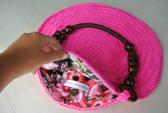 Bolso redondo de Crochet de Tiendas