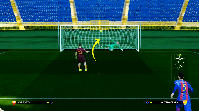 PES 2017 TRICK : FRANCESCO TOTTI PANENKA PENALTY KICK