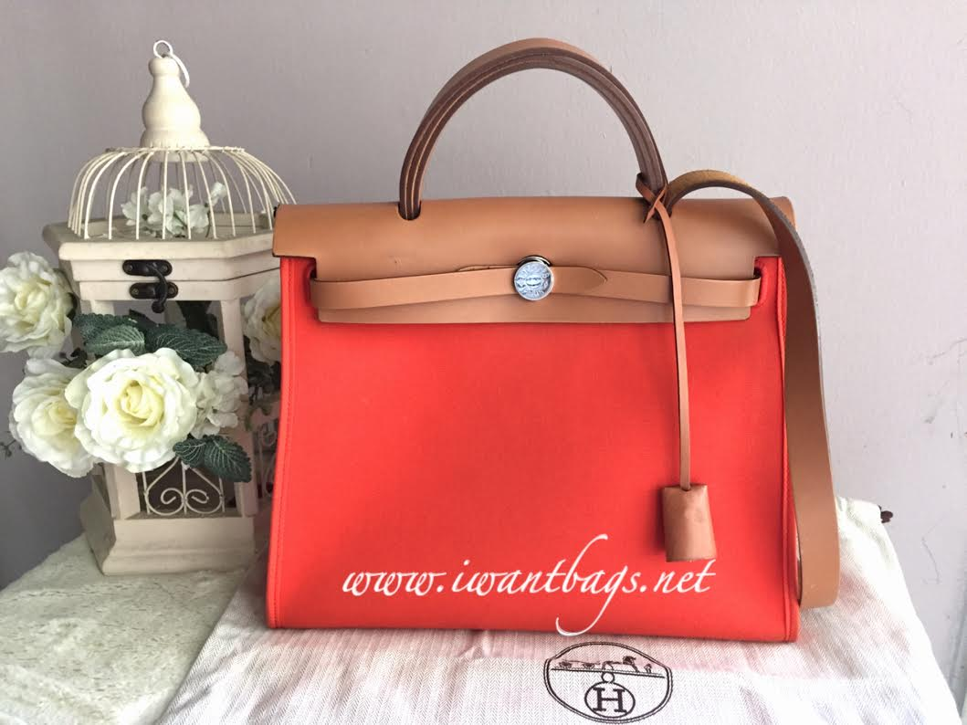 3b11105bb705 ... germany hermes herbag zip pm 31 orange 4f1a3 31653