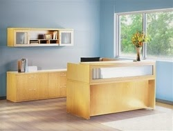 Mayline Laminate Aberdeen Reception Station