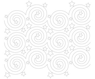 'Nightlights' digital pantograph pattern