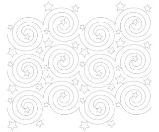 'Nightlights' digital pantograph pattern
