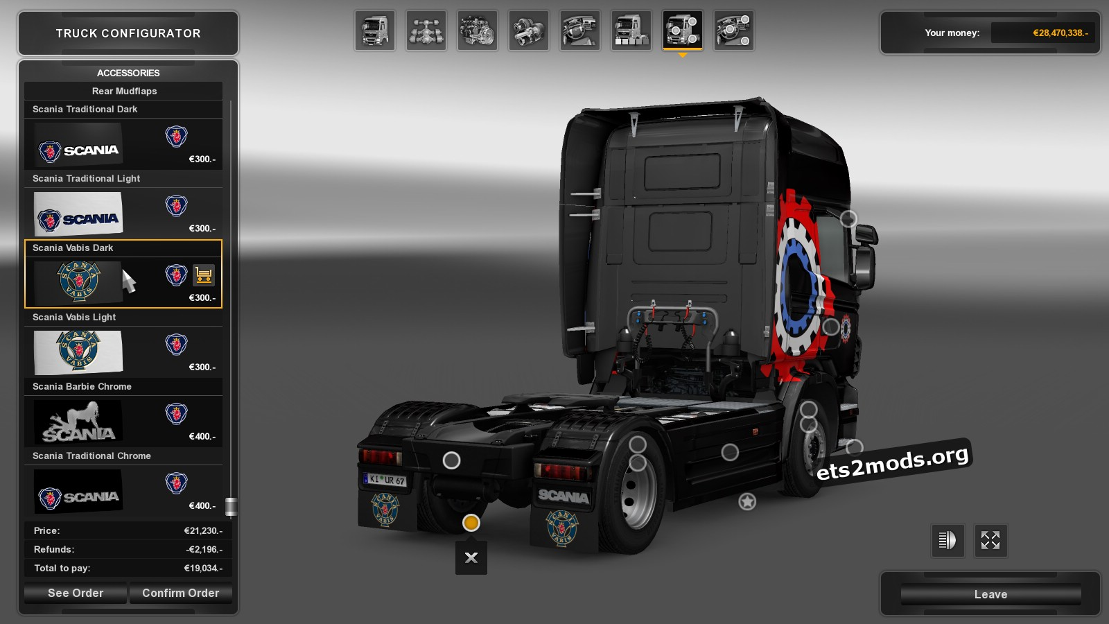 Mudflap pack for Scania v 1.2