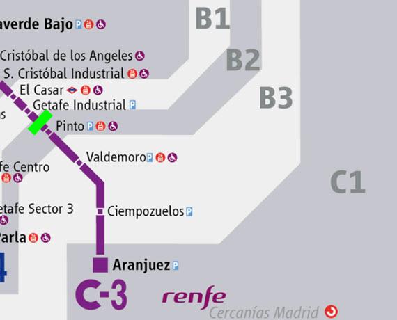 Un nuevo apeadero de Cercanías C-3 en La Tenería en Pinto
