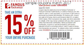 free Famous Footwear coupons for march 2017