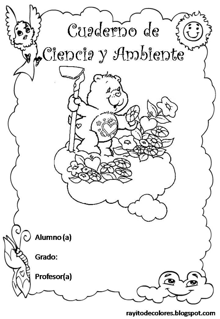 Carátula para cuaderno de Ciencia y Ambiente