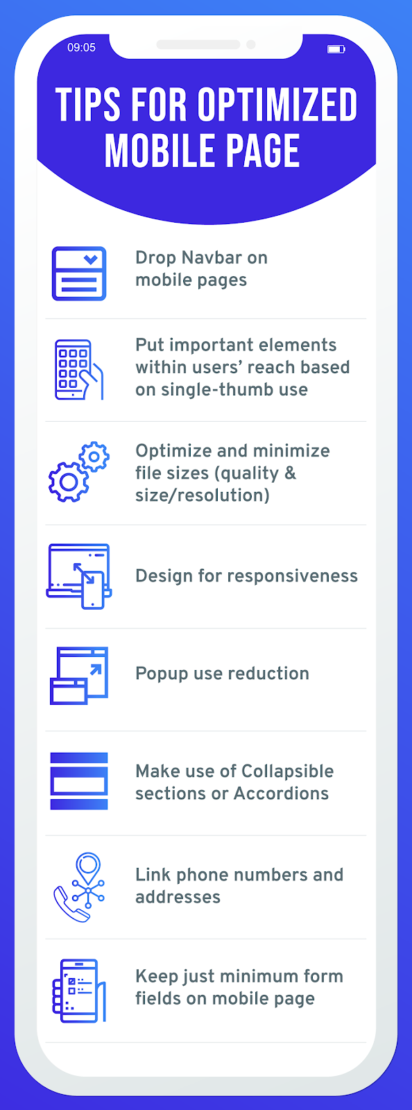 Tips for optimize mobile app