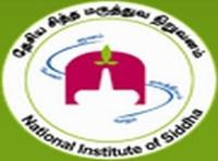 Walk in interview for various posts in National Institute of Siddha,Chennai