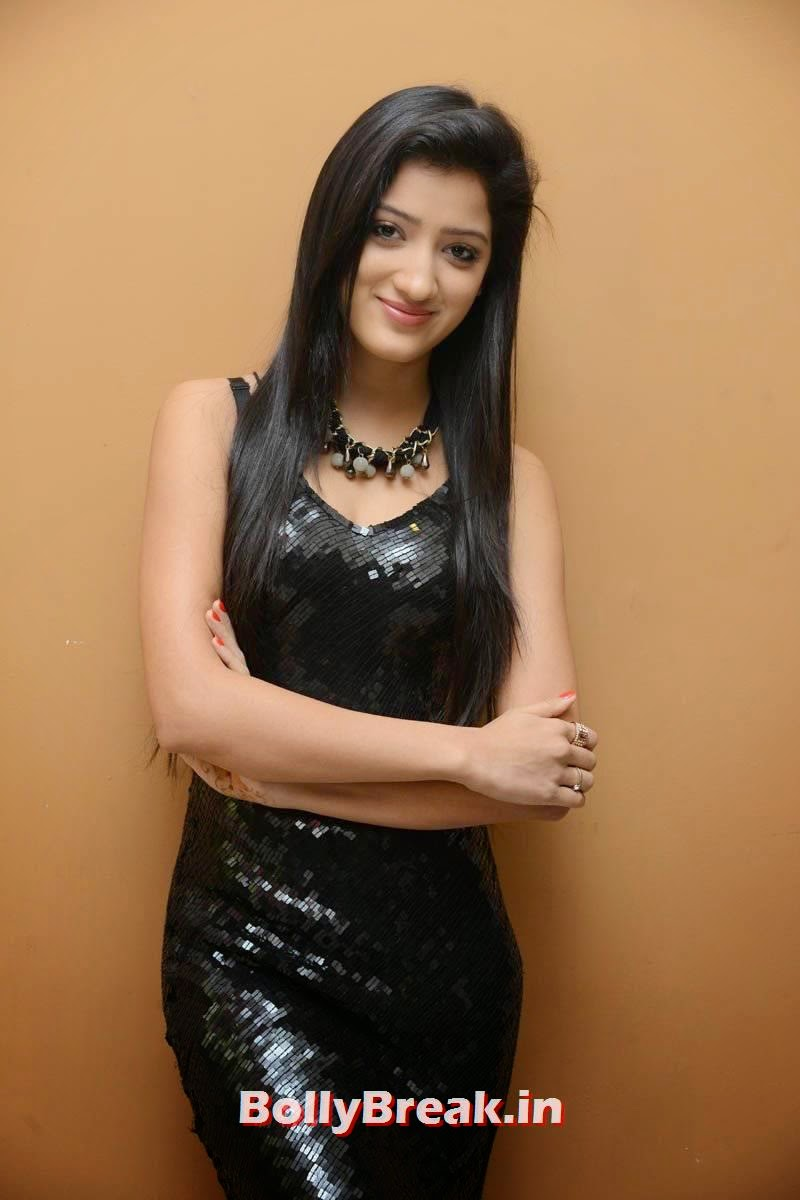 Richa Panai Pics in Black Dress, Richa Panai Hot Hd Pics in Shiny Black Short Dress