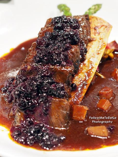 Braised Beef Ribs With Sweet Blueberry Chutney & Smoked Hickory BBQ Glaze