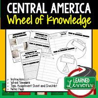 Central America Activity, World Geography Activity, World Geography Interactive Notebook, World Geography Wheel of Knowledge (Interactive Notebook)