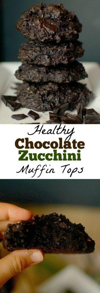 Dark Chocolate Chunk Zucchini Muffin Tops