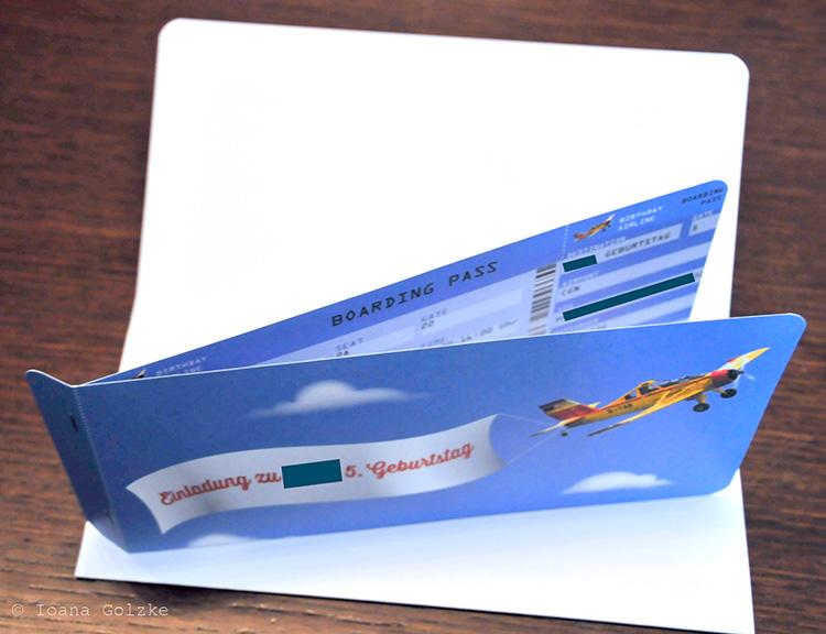 miss red fox: boarding-pass / freebie - einladung zum kindergeburtstag, Einladung