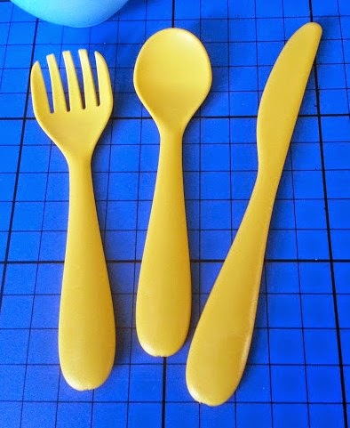 Green Toys Recycled Plastic Cookware And Dining Set Review cutlery knife fork spoon