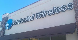 Selectel Wireless Logo on Store