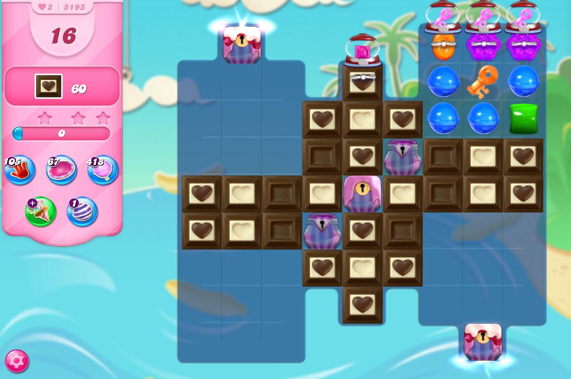 Candy Crush Saga level 5195