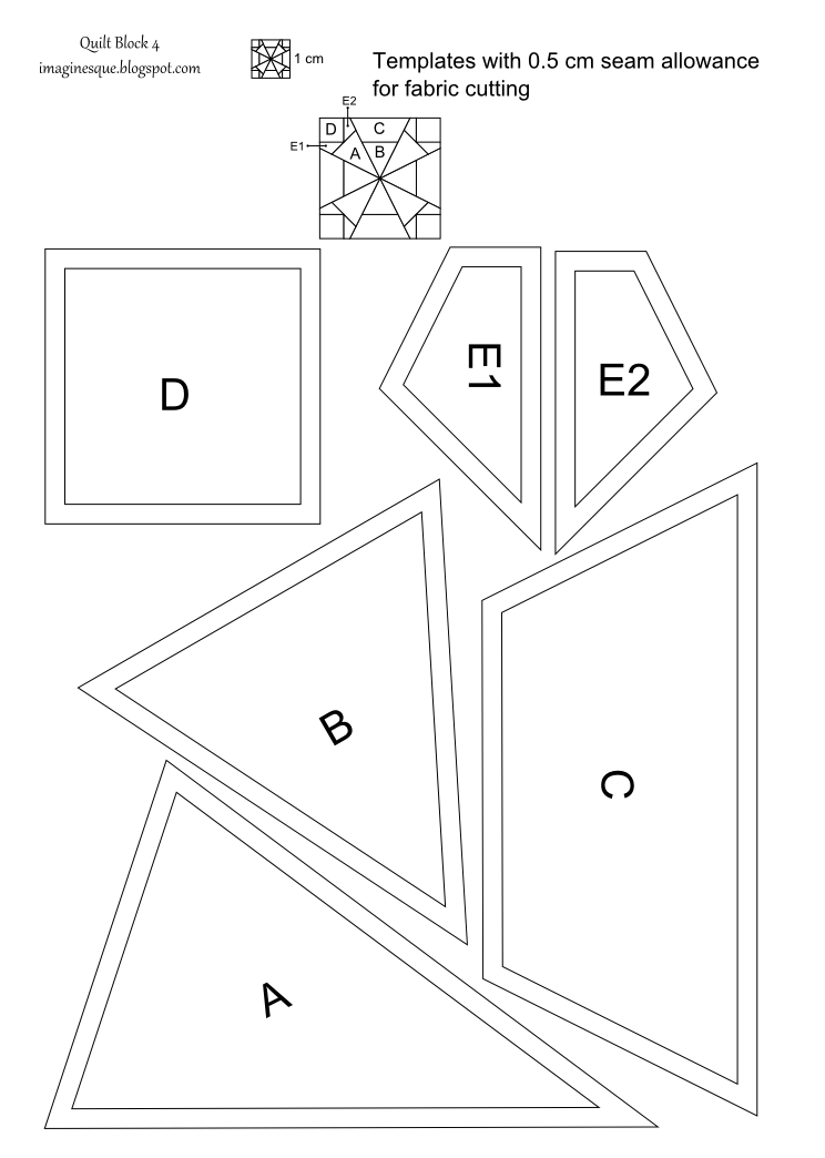 Imaginesque: Quilt Block 4: Pattern and Templates