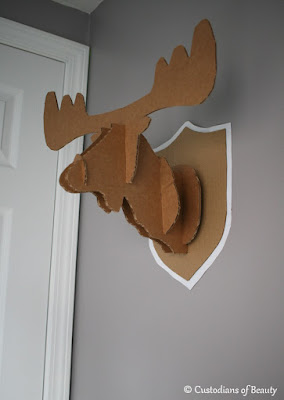 If You Give a Moose a Muffin Party | DIY Moose Taxidermy by CustodiansofBeauty.blogspot.com