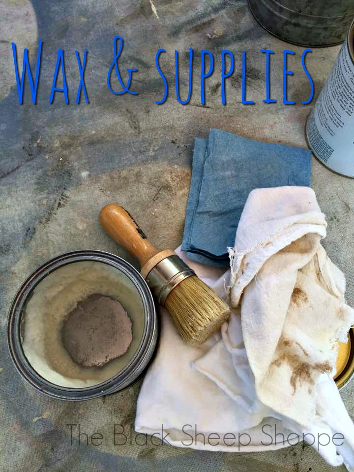 Furniture wax and supplies.