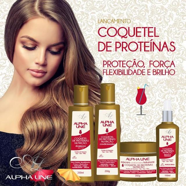 #Testei: Shampoo e Condicionador Coquetel de Proteínas (Alpha Line Cosméticos)
