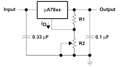 78XX as a variable voltage regulator