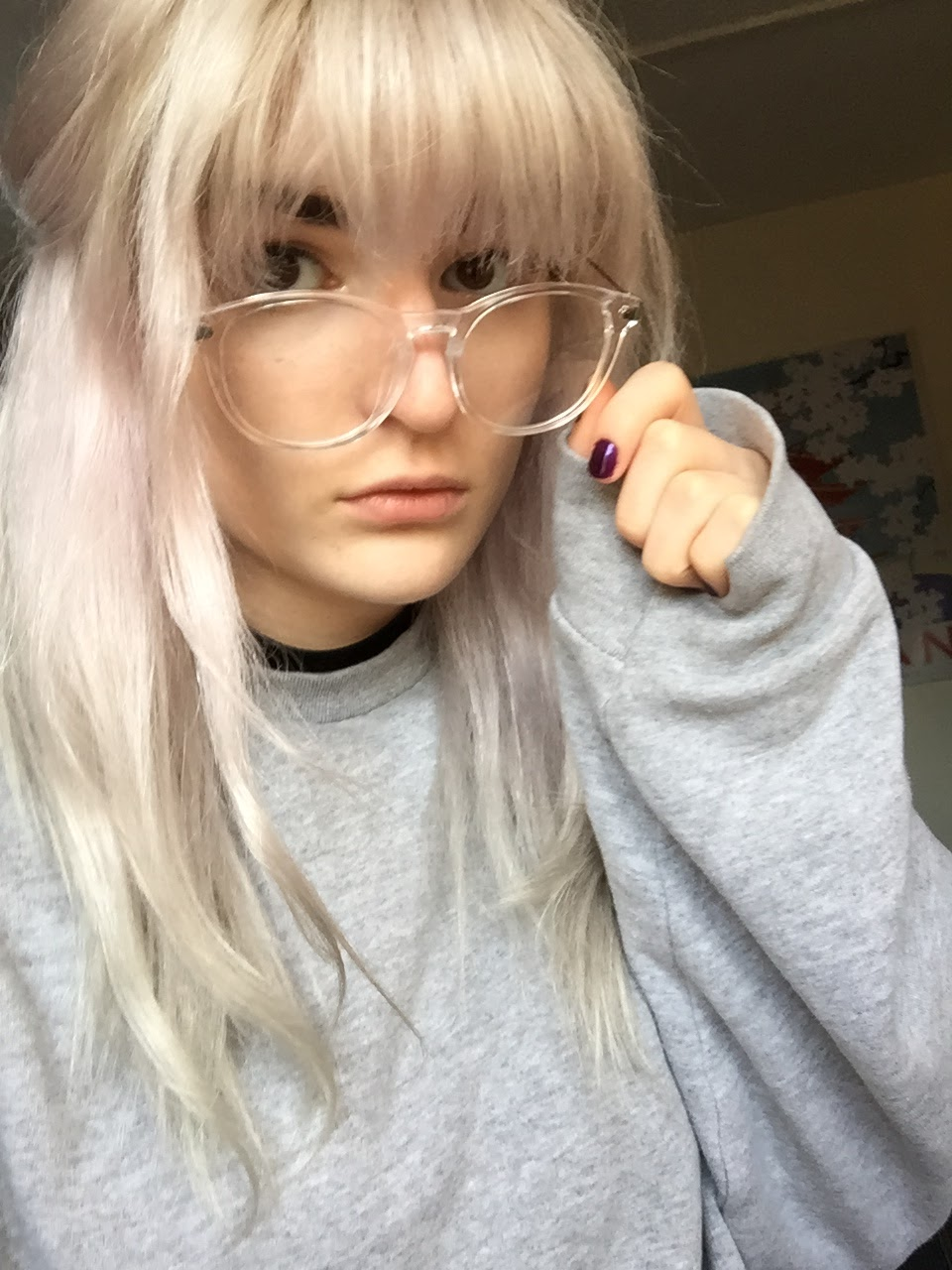 clear framed glasses