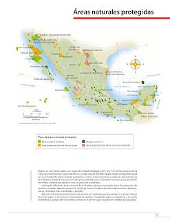 Apoyo Primaria Atlas de México 4to Grado Bloque II Lección 18 Áreas naturales protegidas