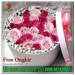 Toko Bunga Mawar Bunga Box Kekasih 081319201212 Soraya Florist