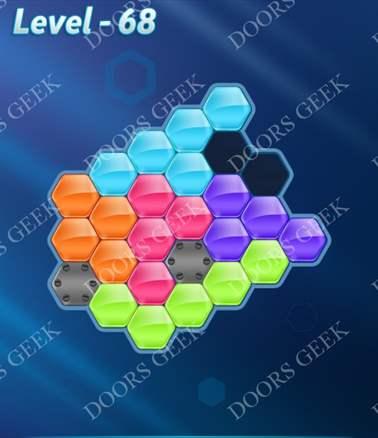 Block! Hexa Puzzle [Intermediate] Level 68 Solution, Cheats, Walkthrough for android, iphone, ipad, ipod