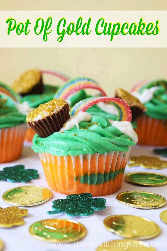 Pot Of Gold Cupcakes- The Perfect St. Patty's Day Treat!