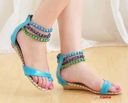 Flat Summer Shoes | Braided Sandals